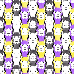Alpaca pride - purple and yellow