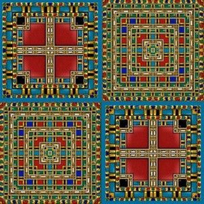 Ancient Egyptian Jewelry Inspired Pattern