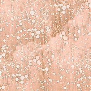 rain splatter in caramel and peach