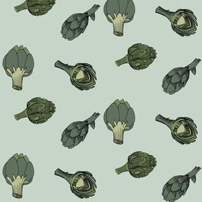 artichoke - sparse - mint