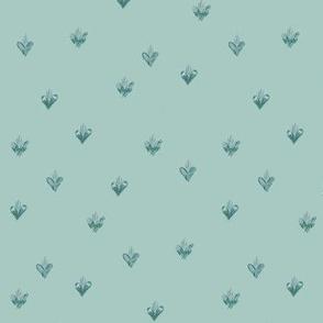 Holy Family Hearts - Green