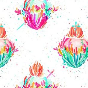 Splashy Hearts - Neon