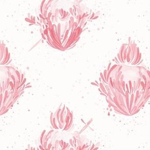 Splashy Hearts - Pink