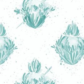Splashy Hearts - Green