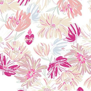Immaculate Heart  Floral - Pink
