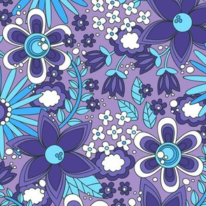 Peace, Love and Flowers (Purple)