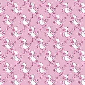 Dancing happy bird -baby pink