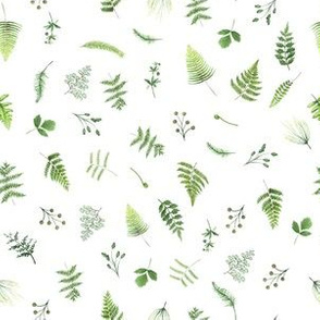 """6"""" Woodland Animals FABRIC - Fern Fabric- animals in forest fabric -  mix and match fabric"""