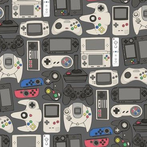 Video Game Controllers in True Colors Horizontal