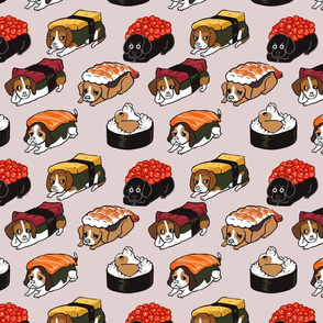 Sushi Beagle _8x8