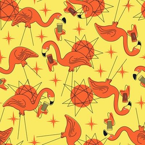 Halloween Flamingos- Yellow