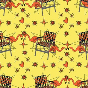 Halloween Lawn Chairs- Yellow