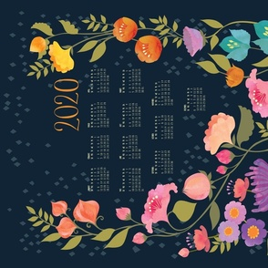 Enchanted Garden 2020 Calendar Tea Towel