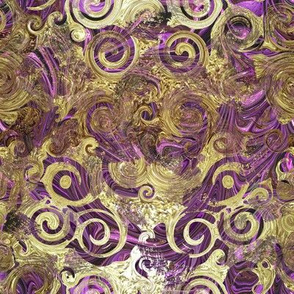 Gold Foiled Purple