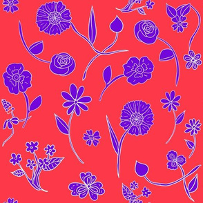 Hand-Drawn Flowers Matisse