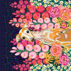 """Garden Hound Portrait 27""""x18"""""""