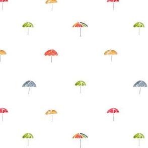Dotted Umbrellas
