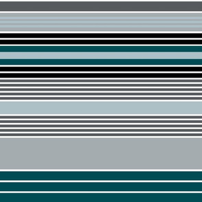 The Green the Grey and the Black: Stripe Happy - Horizontal