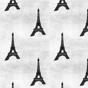 eiffel tower on grey texture
