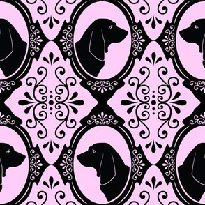 The Regal Basset Hound (Pink)
