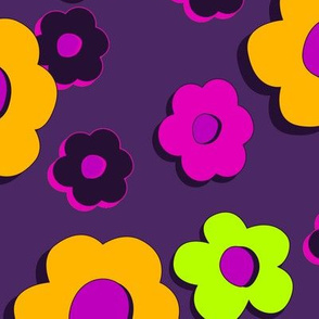 Daisy Groove - purple and orange