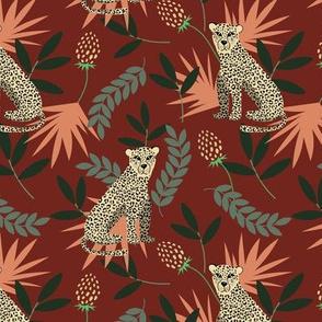 Leopard red pattern