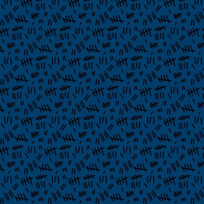 Tally Marks (blue w/ black - smaller scale)