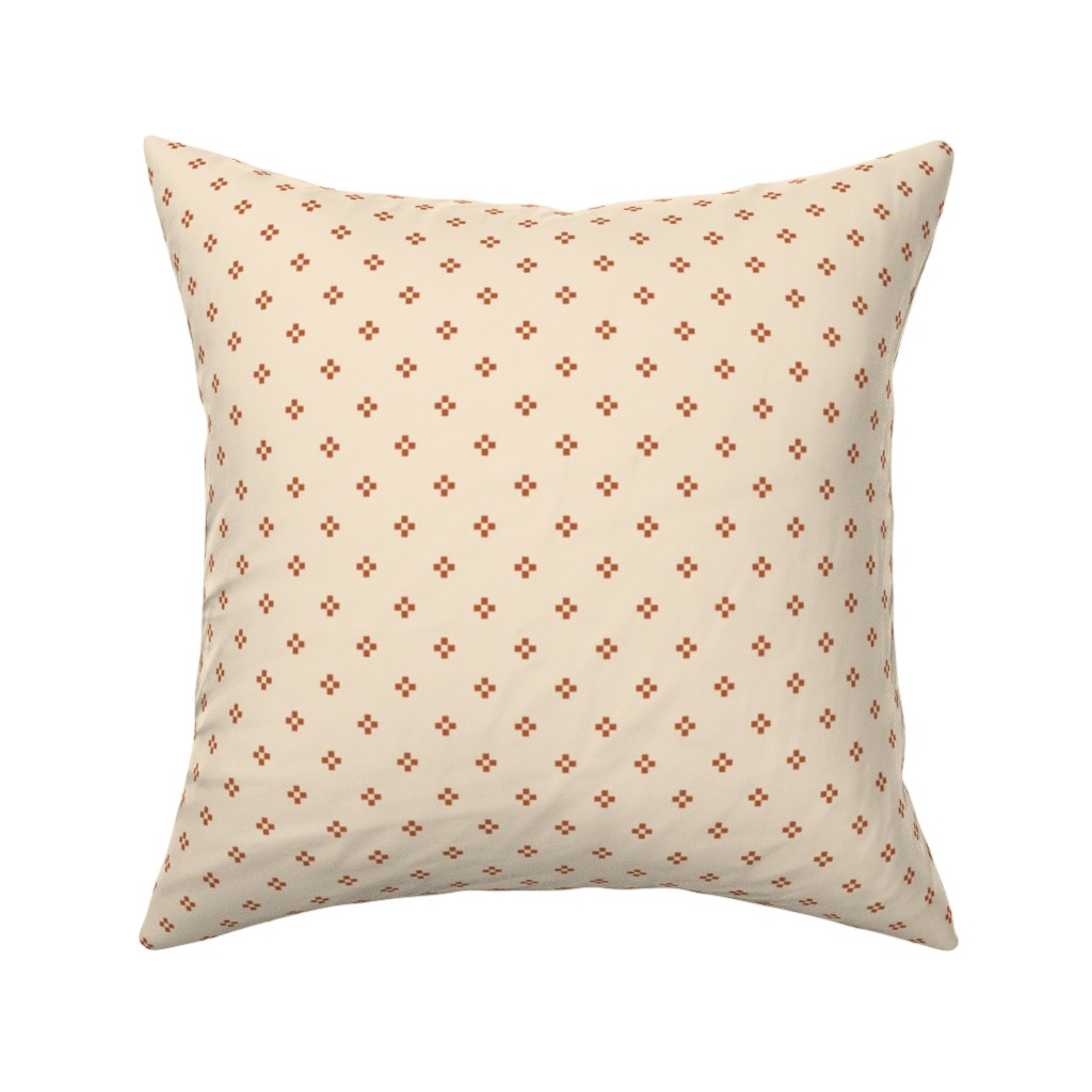 Catalan Throw Pillow featuring Mini Southwestern Star Kilim in Bone by elliottdesignfactory