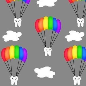 Dental Rainbow Parachute Jump / Teeth-Tooth