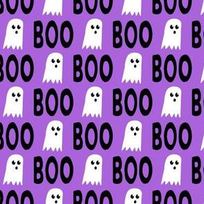 Boo - Ghost - Halloween fabric - purple - LAD19
