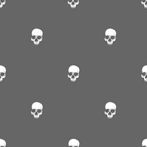 Skull Dots // Grey