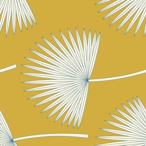Boho Sunshine Palm Leaves Rotated