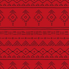Minimal western mudcloth bohemian mayan abstract love aztec design christmas winter red black