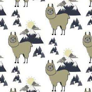 Llama and mountain