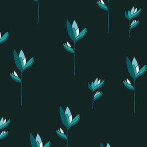 Birds of paradise flower rain forest jungle plants blue charcoal boys