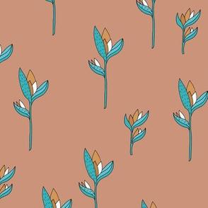 Birds of paradise flower rain forest jungle plants blue copper brown boys