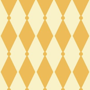 Diamond Dot - Vintage Yellow, Cream