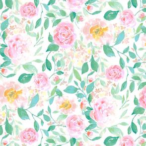farmhouse floral pastel large scale