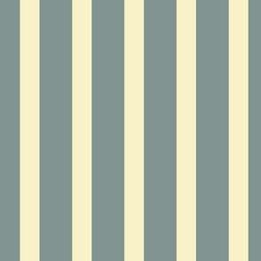 Stripes - Vintage Blue, Cream