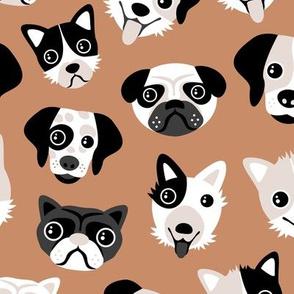 Little puppy friends dog illustration design mokka copper