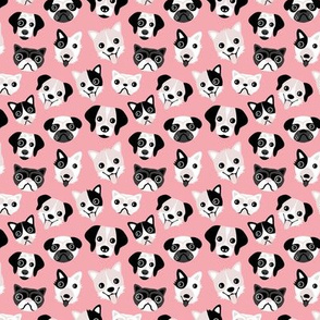 Little puppy friends dog illustration design  pink SMALL