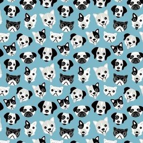 Little puppy friends dog illustration design  blue SMALL