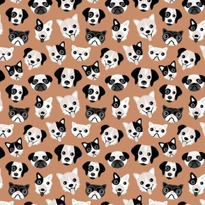 Little puppy friends dog illustration design mokka copper SMALL