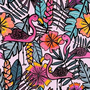 Flamingos - by Kara Peters