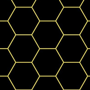 Pattern hexagons Neon (Yellow)