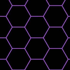 Pattern Hexagons Neon (Purple)