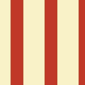 Stripes - Large - Cream, Vintage Red
