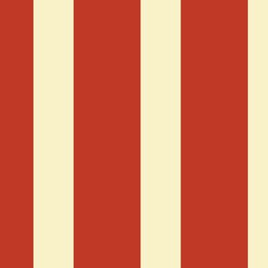 Stripes - Large - Vintage Red, Cream