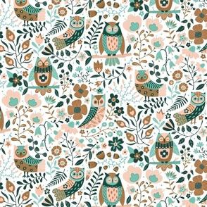 Owls limited palette
