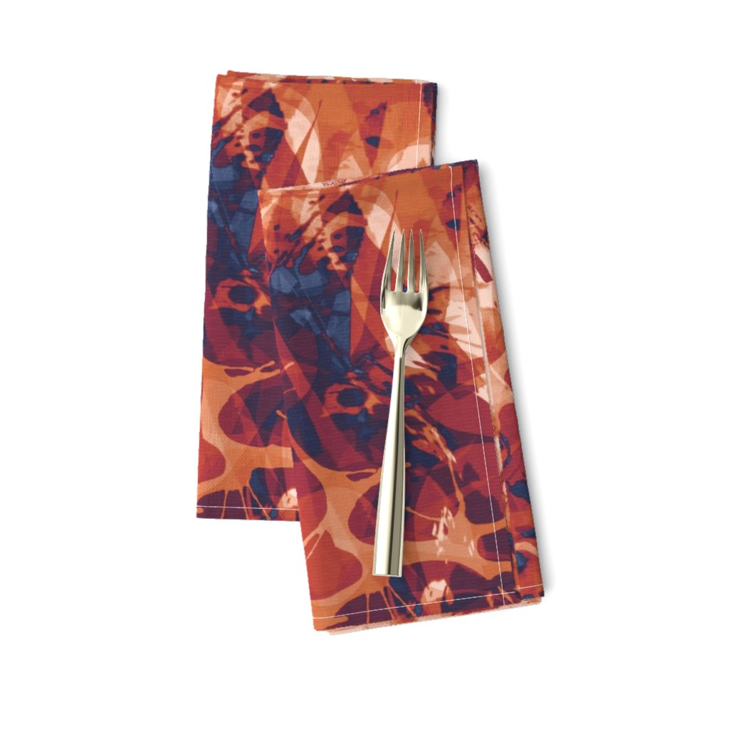 Amarela Dinner Napkins featuring abstract_terracotta-rust by wren_leyland